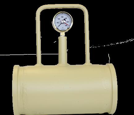 Concrete pump pressure gauge