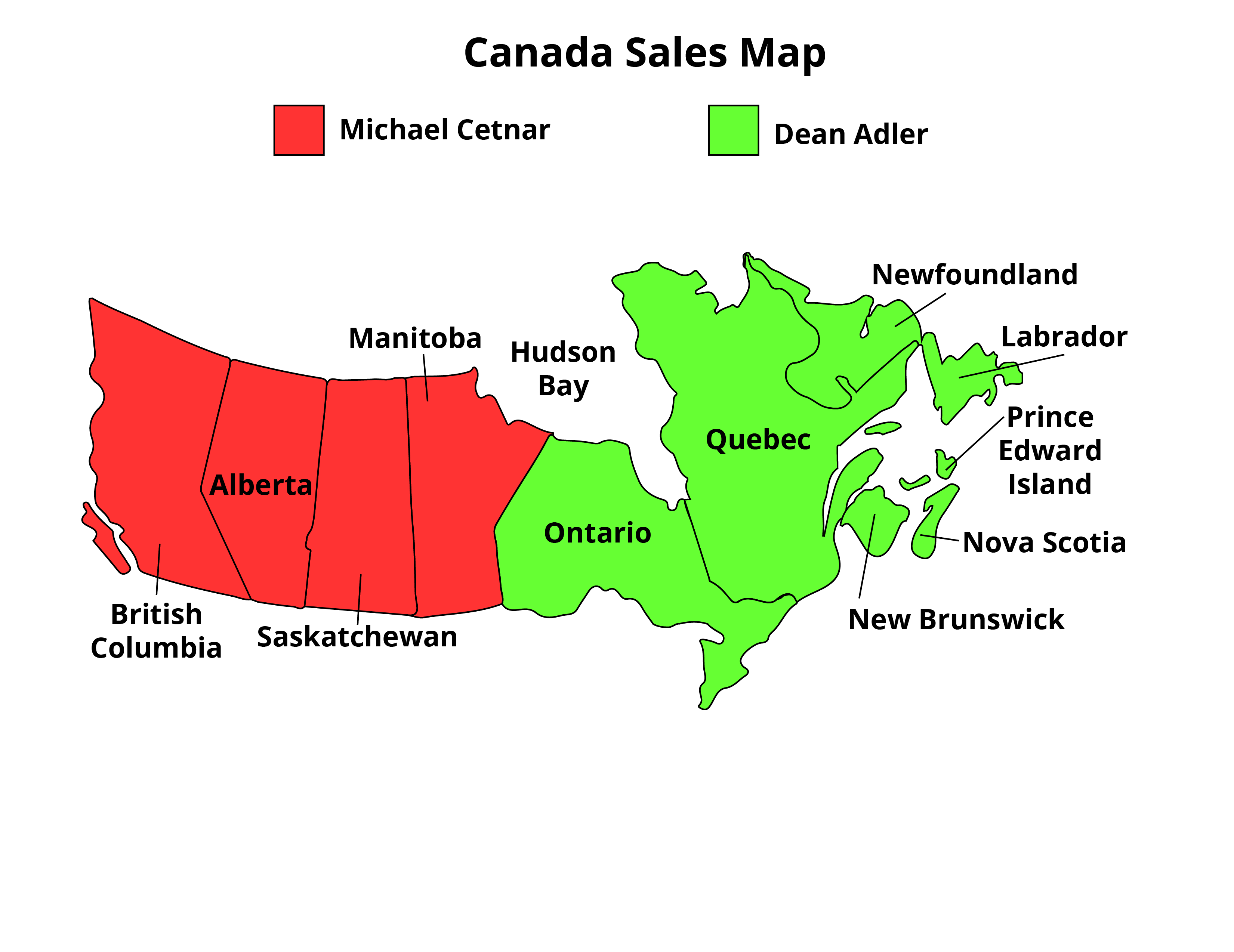 Canada Map Sales.Canada Map 01 Con Forms